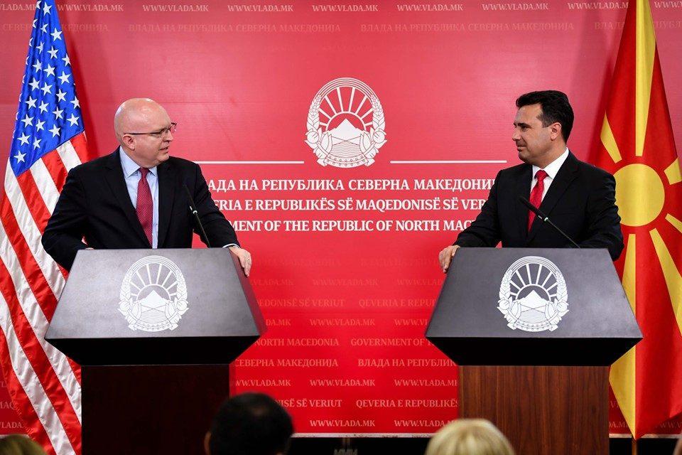 Заев: Ќе се интензивира економската соработка со САД, но и заложбите за безбедност, слобода и демократски просперитет