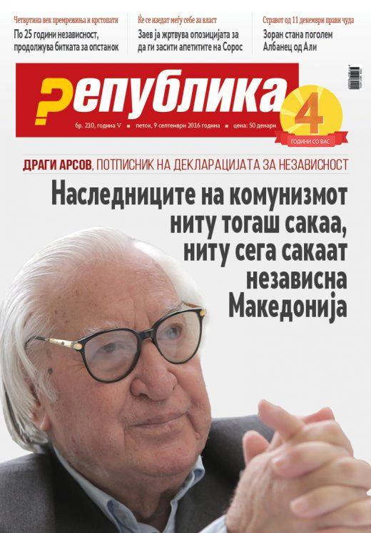 Наследниците на комунизмот ниту тогаш сакаа, ниту сега сакаат независна Македонија