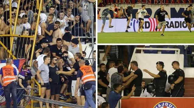 Хајдук елиминиран од малтешки Гзира јунајтед, незадоволни навивачи влетаа на терен