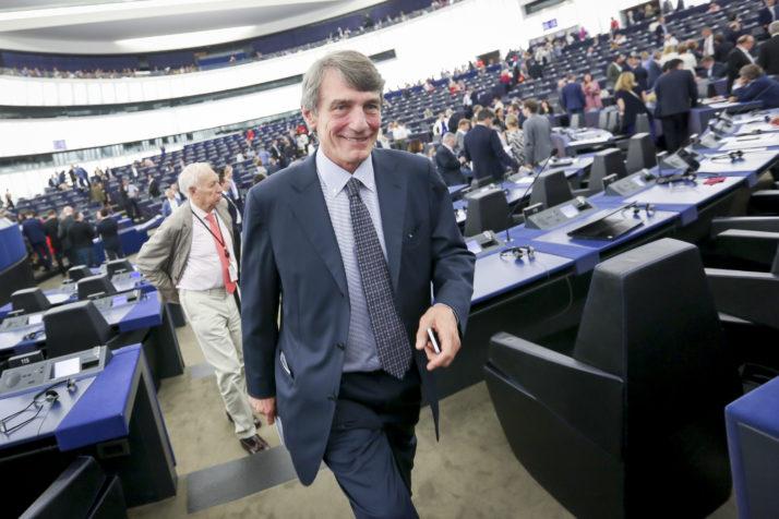 Давид Сасоли избран за претседател на Европскиот парламент
