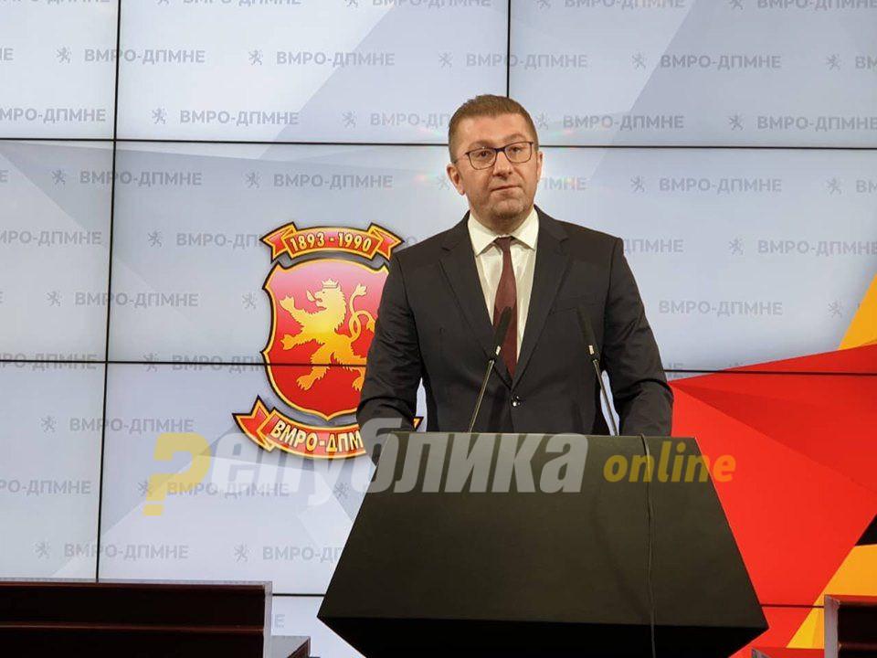 Мицкоски: Ако ВМРО-ДПМНЕ политички се радикализира најрадосен ќе биде Заев
