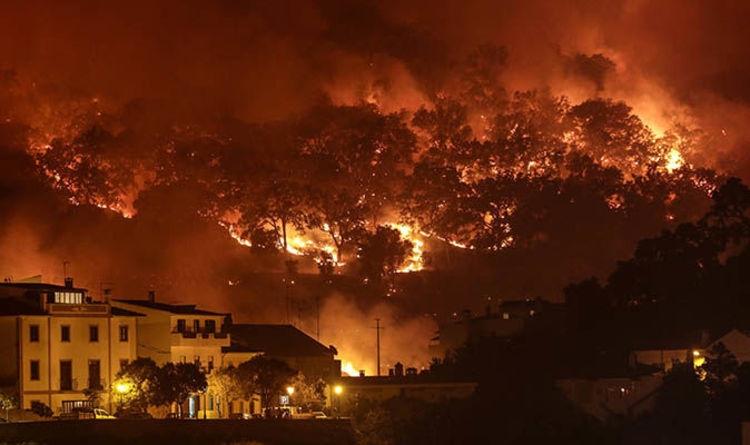 Големи пожари во Португалија, осум повредени, наредена евакуација