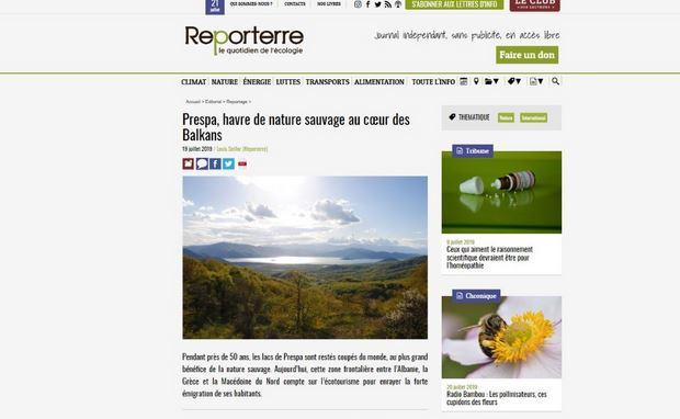 """Француски """"Репортер"""": Преспа, рај на дива природа во срцето на Балканот"""