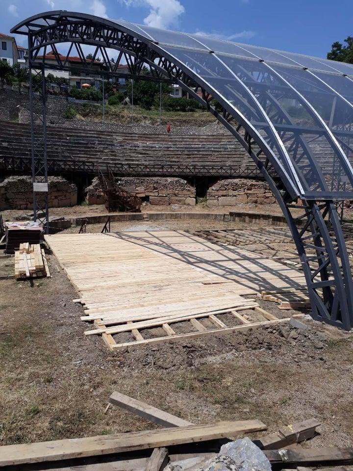 Обновена сцената на Античкиот театар во Охрид