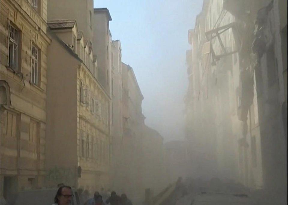 Отпуштен готвач ја предизвикал експлозијата во Виена, урната пола зграда