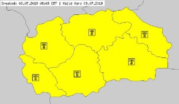 Македонија влегува во опасна фаза поради пеколниот бран, температури до 42°C