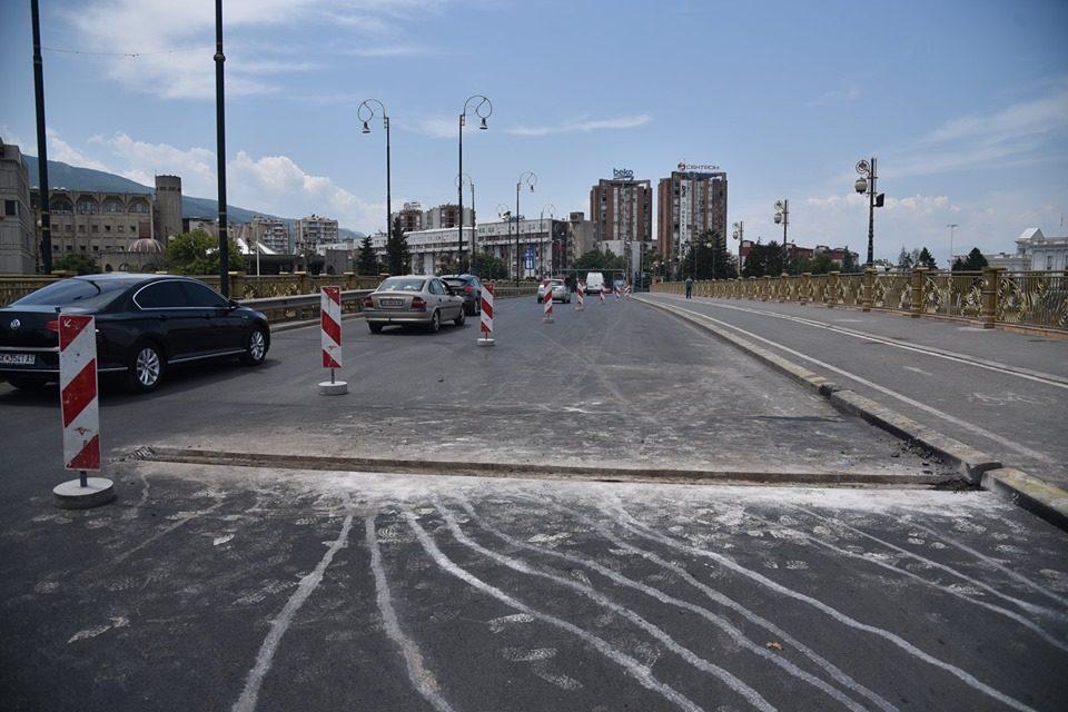"""Нов привремен сообраќаен режим на мостот """"Гоце Делчев"""""""