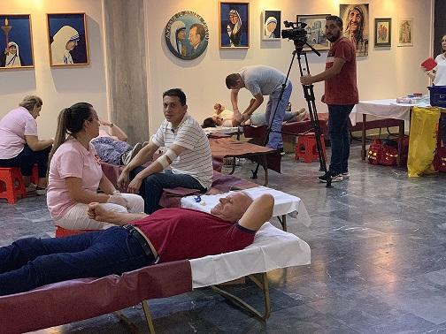 Крводарителска акција во Дом на АРМ по повод Успение на Пресвета Богородица