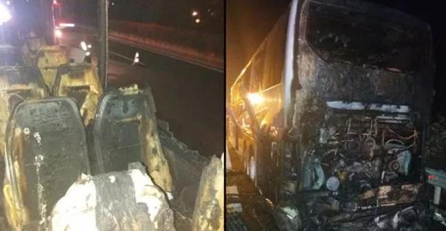 Автобус целосно изгорел во Грција: Српски патници преживеале благодарение на возачот