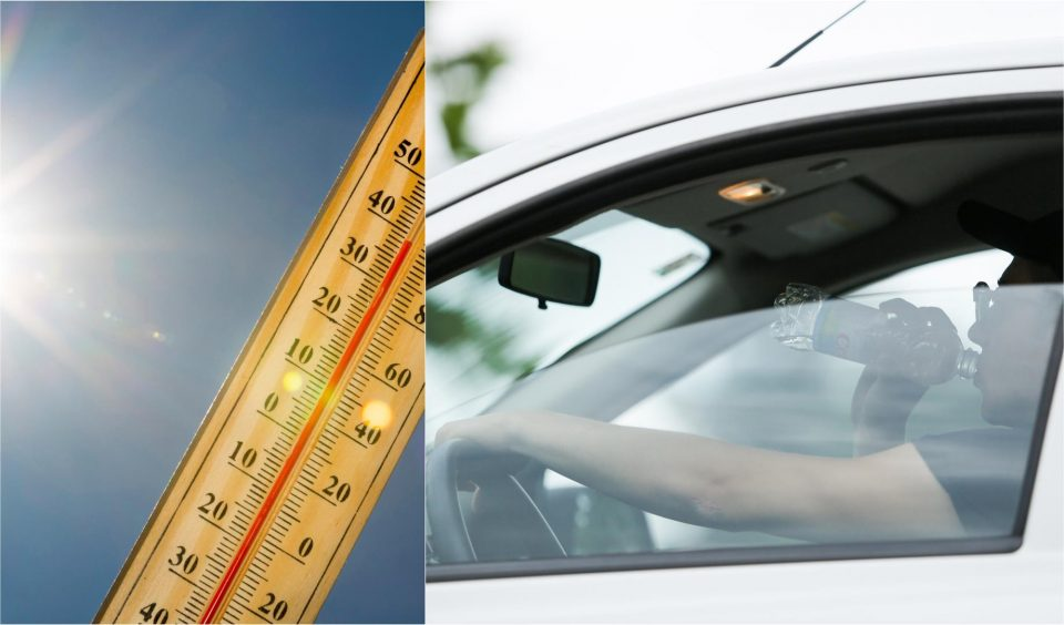 Во автомобил измерени 81 Целзиусов степен