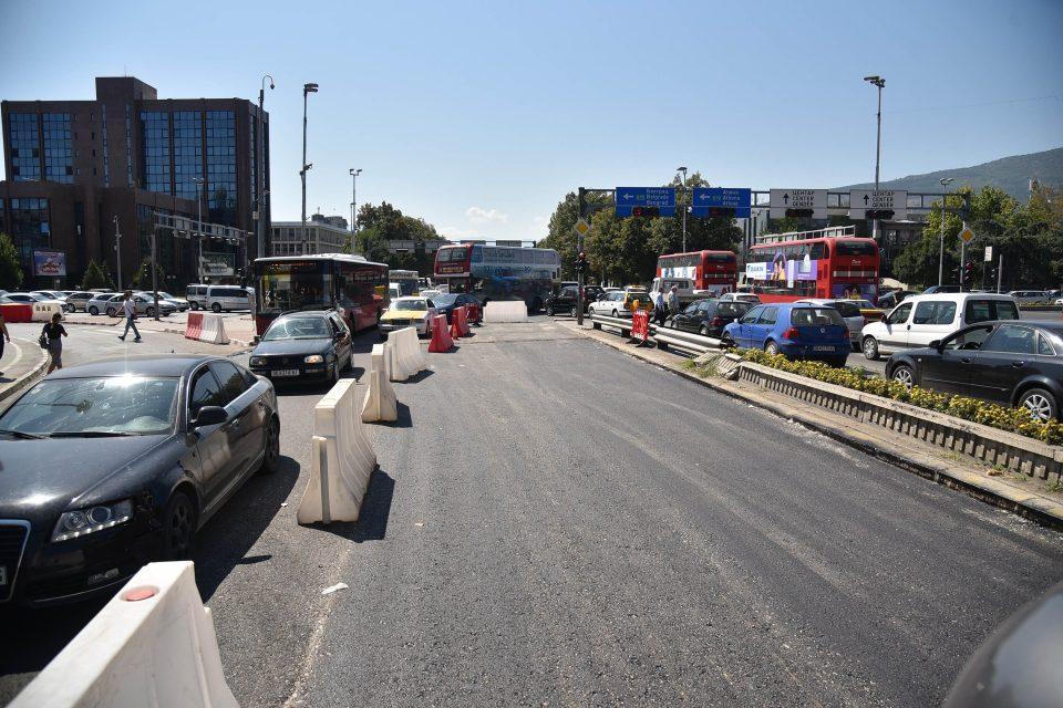 Затворен за сообраќај булеварот кај Бит Пазар