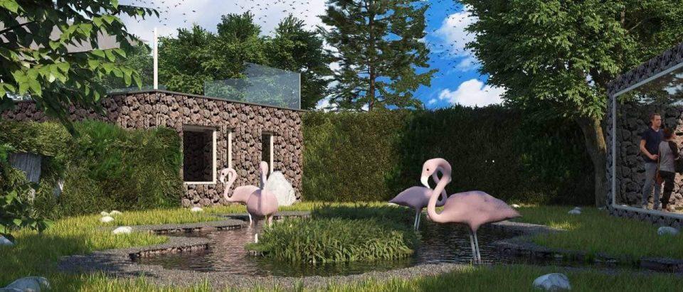 Се гради живеалиштето за фламинга и пингвини во Золошката градина