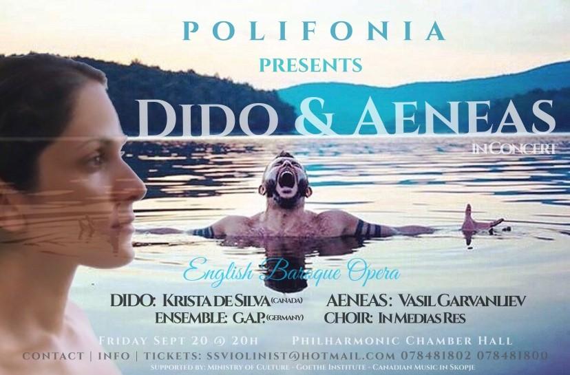"""Љубовната опера """"Дидо и Енеј"""" првпат во Македонија со ѕвездите Гарванлиев и де Силва!"""