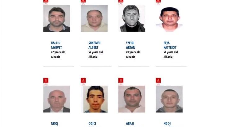 Албанците најбарани во Европа, Интерпол трага по 116