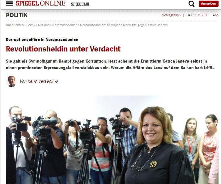 """Осомничената хероина на револуцијата – германски """"Шпигел"""" им пресуди на Катица Јанева и Зоран Заев"""
