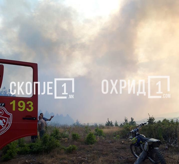 Свикан кризниот штаб на Општина Охрид откако пожарот се прошири кон Косел