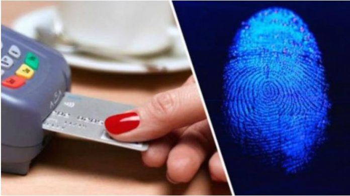 Наскоро платежни картички со отпечаток од прст
