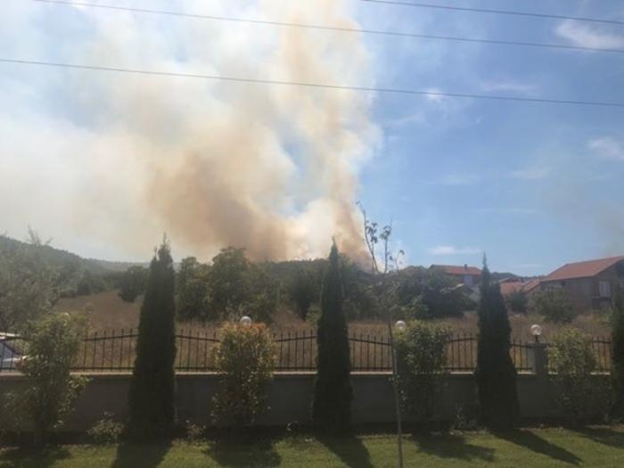 Се уште e активен пожарот кај Пинтија