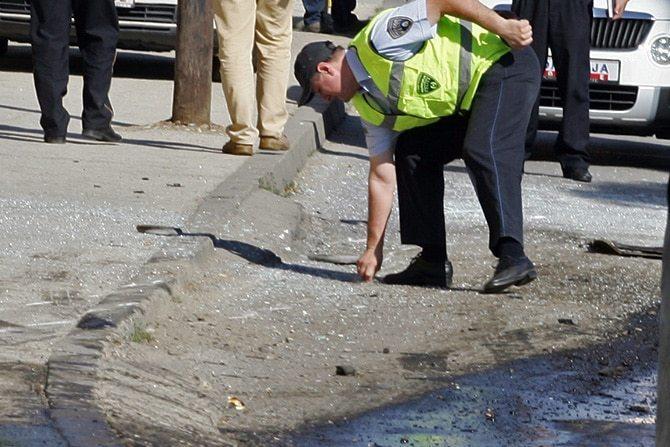 Сообраќајот се пренасочува: Верижен судар пред Богородица, се врши увид на местото на несреќата