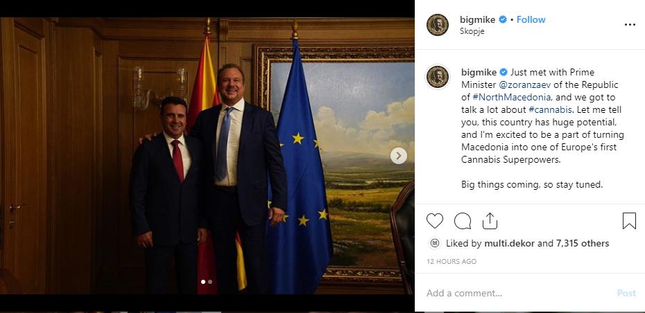 Биг Мајк објави видео од посетата на Македонија, разговарал со Заев, Филипче, Хари Костов