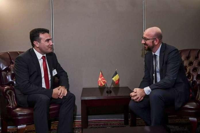 Заев се сретна со белгискиот премиер Мишел: Македонија направи силен прогрес во реформите