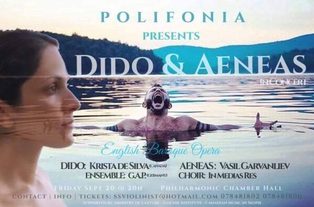 """Операта """"Дидо и Енеј"""" од Хенри Персл во Филхармонија"""