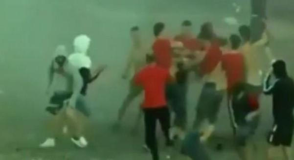 Брутална тепачка меѓу албански навивачи
