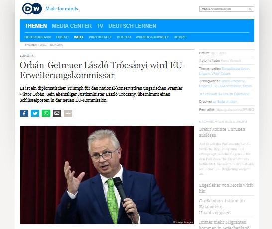 ДВ: Новиот еврокомесар за проширување – триумф на Орбан врз ЕУ