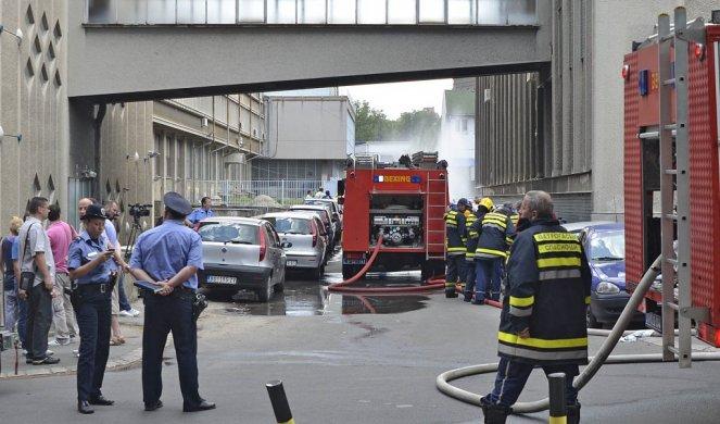 Експлозија и пожар на факултет во Белград