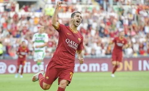 Прва победа за Рома сезонава, деби гол за Михтаријан