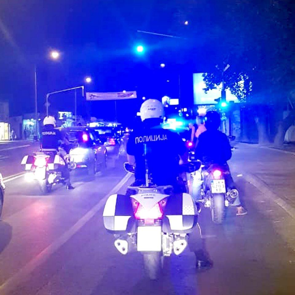 Акција на скопската полиција: Ноќва казнети 40 мотоциклисти, задржани 13 мотори