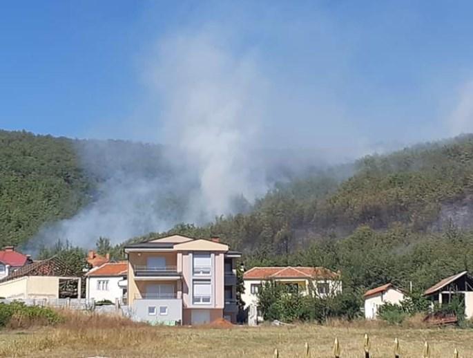 Апел за помош од мештаните: Голем шумски пожар во Кичевско