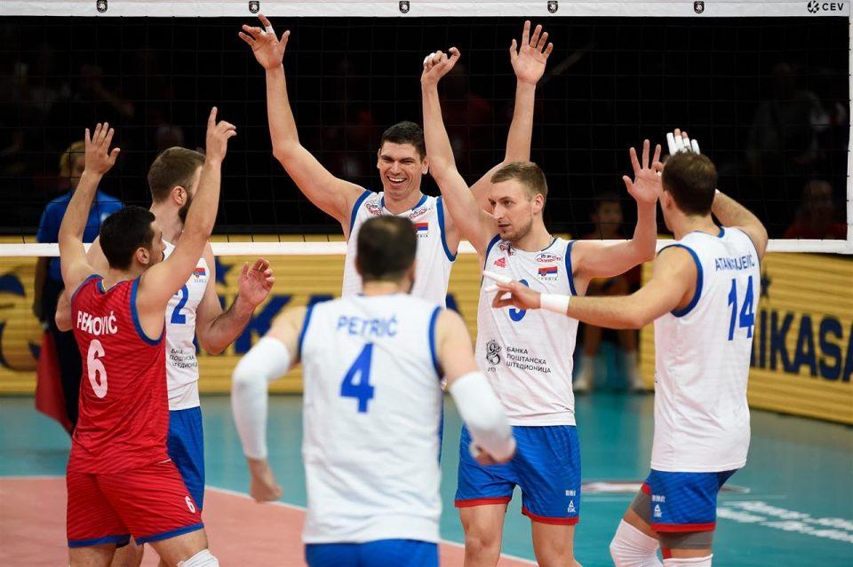 Србија и Словенија во финалето на ЕП во одбојка