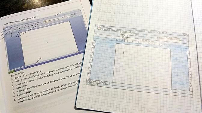 За домашно по информатика нацртајте ворд!