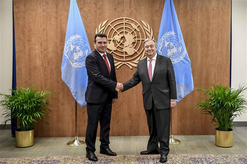 Заев – Гутереш: Македонија е синоним за победничките можности на дипломатијата и дијалогот