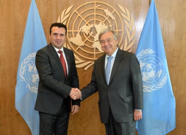 Заев во Њујорк ќе се сретне со генералниот секретар на ОН, Гутереш