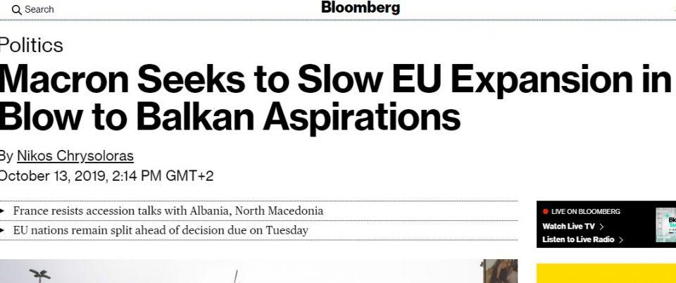 """""""Блумберг"""": Никаков датум за преговори да не им се дава на Северна Македонија и Албанија, смета Франција"""