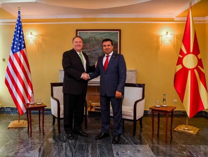 Средба Заев-Помпео: САД ќе продолжат да бидат партнер на Македонија
