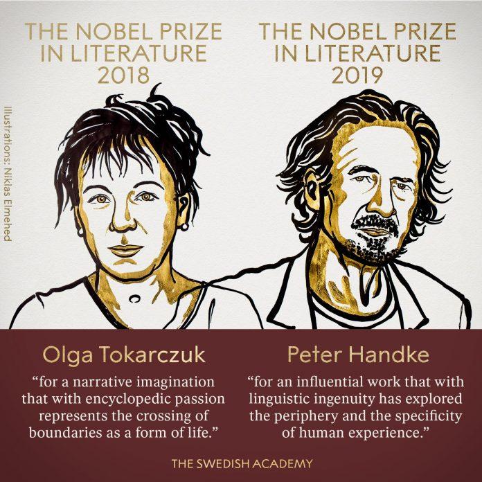 Олга Токарчук и Петер Хандке се годинашни добитници на Нобеловата награда за литература