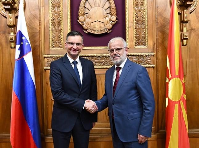 Талат Џафери се сретна словенечкиот премиер Марјан Шарец