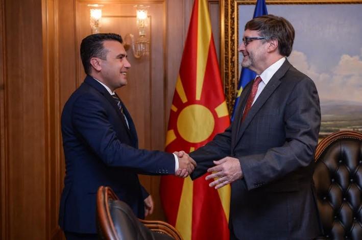 Средба Заев-Палмер: Македонија и САД оптимисти за евроатланските процеси