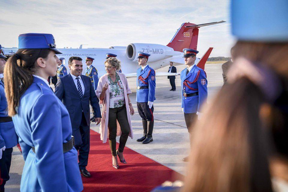 Заев пристигна во Србија, утре во Нови Сад на трилатерален состанок со Вучиќ и Рама