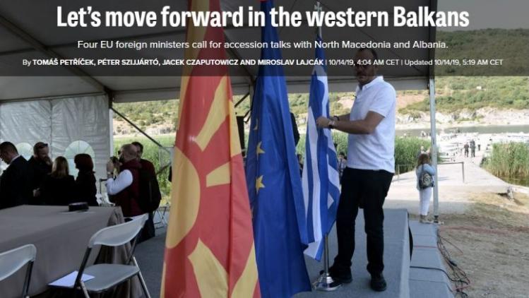 Чешка, Полска, Словачка и Унгарија бараат од ЕУ да донесе смела одлука за Македонија и Албанија