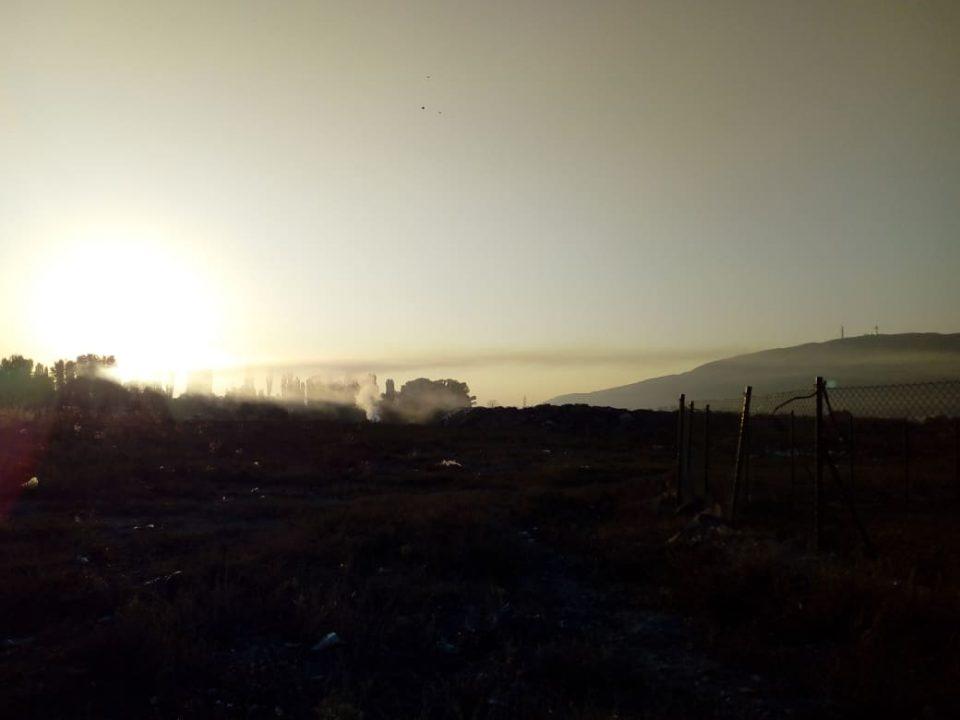 Утрово повторно гореше дивата депонија во Ѓорче Петров кај Ново Село