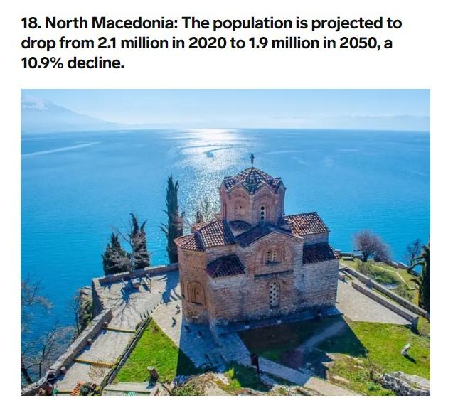 """Листа на """"Бизнис инсајдер"""" за 20 земји кои полека изумираат, Македонија една од нив"""