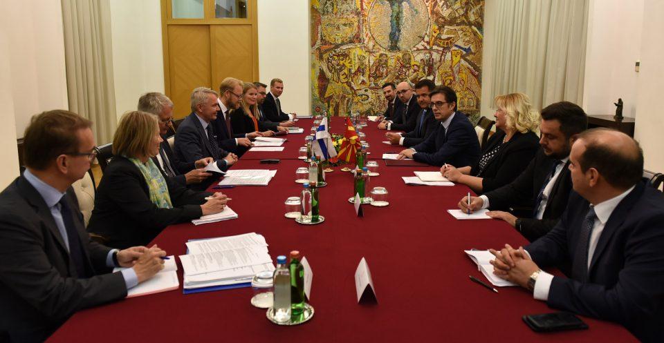 Пендаровски – Хависто: Очекуваме одлука за почеток на преговорите за време на финското претседавање со ЕУ