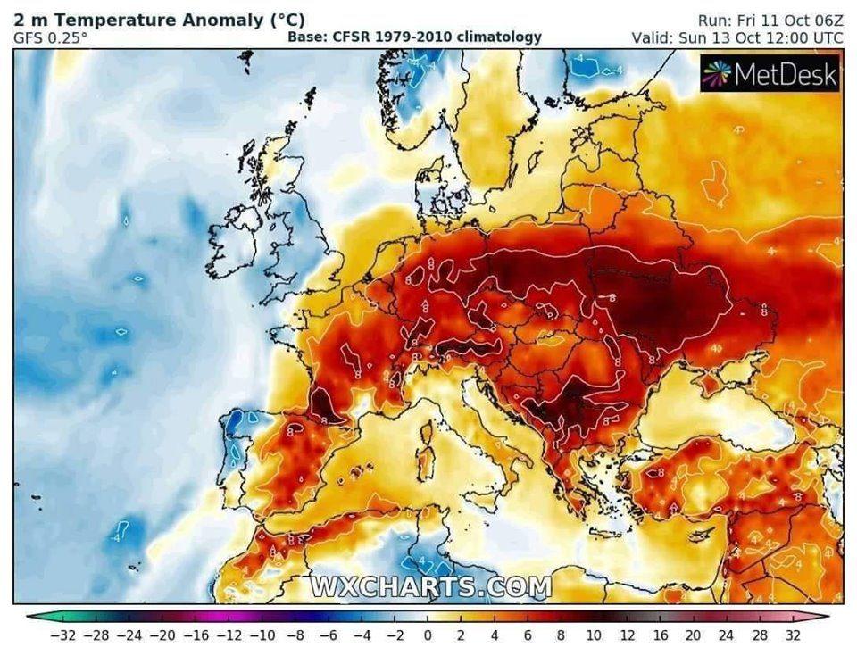 Непријатна топлина, сахарска прашина и песок доаѓаат кон Македонија