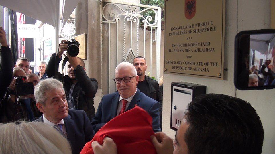Битола доби почесен конзулат на Република Албанија: Али Ахмети го отвори конзулатот