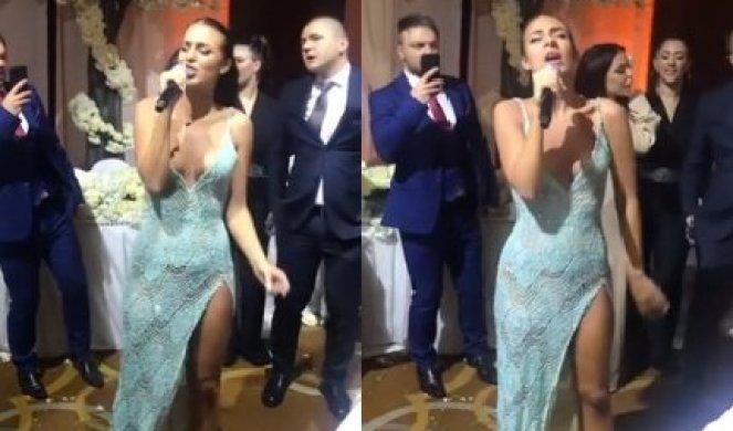 Анастасија ги фрли штиклите и боса ја заврши свадбата на Вељко