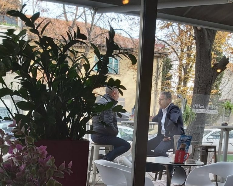 Борјан Јовановски и Никола Тодоров на кафе